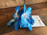 Double Lily Hair Flowers - Blue