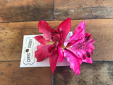 Double Lily Hair Flowers - Hot Pink