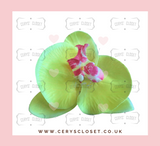 SINGLE FLOWER HAIR ORCHID WITH CROCODILE CLIP - Yellow