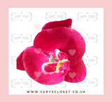SINGLE FLOWER HAIR ORCHID WITH CROCODILE CLIP - Hot Pink