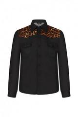Mens Long Sleeve Leopard Print Shirt