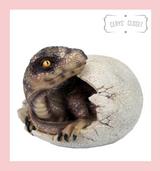 Raptor Dinosaur Hatching From Egg Resin Freestanding Ornament at Cerys' Closet