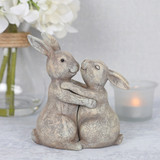 Bunny hugs Ornament