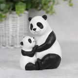 Panda Baby and Mummy Ornament