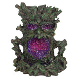 Backflow Incense Burner Dark Tree Man with Colour Changing LED Crystal Inside a Beautiful Crystal Cave