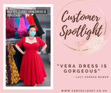 50s Vintage Inspired Vera Sweet Heart Swing Dress by Cerys' Closet in Lipstick Red