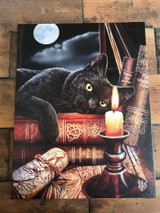 """Witching Hour"" Black Cat Canvas By Lisa Parker 19 x 25CM"