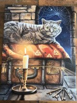 """""""The Keeper Of Secrets"""" Cat Canvas By Lisa Parker 19 x 25CM"""