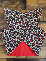 Red Leopard Print 50s Retro Inspired Wired Hairband