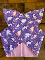 50s Retro Inspired Reversible Wired Hairband Unicorn Print