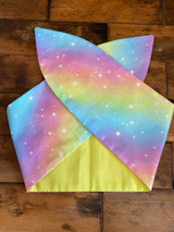 50s Retro Inspired Reversible Wired Hairband Pastel Galaxy Print
