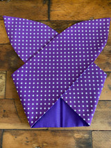50s Retro Inspired Reversible Hairband Purple polka Dot