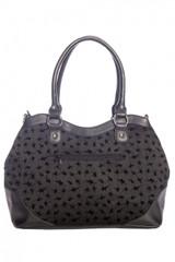 Spinderella Spider Handbag with Flock Spider Detail