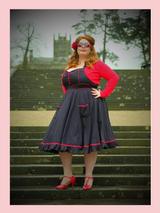 50s Black and White Polka Dot Rockabilly Rock n Roll Halter Neck Vintage Swing Dress Hell Bunny Dress