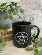 Black and White Pentagram Mug