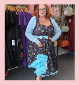 LIMITED EDITION PRINT 50s Vintage Inspired Vera Sweet Heart Swing Dress by Cerys' Closet Pastel Spider and Spiderweb