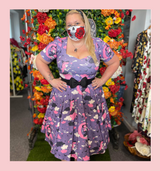 """LIMITED EDITION PRINT 50s Vintage Inspired """"Samantha Witch"""" Vera Sweet Heart Swing Dress by Cerys' Closet"""