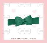 Green 50s Vintage Inspired Elasticated Waspie Satin Bow Belt  Banned Apparel at Cerys' Closet