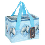 The Journey Recycled Lunch Bag Featuring White Unicorns by Lisa Parker