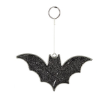 Black Glitter Bat Mini Suncatcher