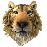 Wall Mountable Hand painted Resin Tigers Head Rajah 37.5cm