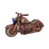 Bronze Effect Steam Punk Cogwork Cruiser Motorbike with Gauges, Pipes and Gears
