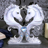 Pure Affection Baroque Unicorn Bust Figurine with Jewel Insets