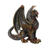 Silver and Bronze Effect Mechanical Dragon Protector 20cm