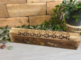 Mango Wood Box Incense Box with Brass inlay Pentagram