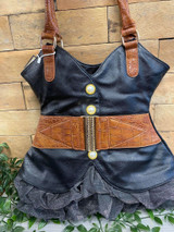 Quirky Corset Dress Double Handled Handbag with Frilly Skirt