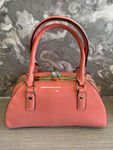 40S AND 50S CLASSIC PINUP ROCKABILLY VINTAGE INSPIRED SHINY PATENT STYLE HANDBAG - Pink