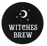 Black and White Ceramic Coaster - Witches Brew