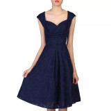 SALE Jolie Moi Navy Lace 50s Vintage Inspired Dress - SIZE 12 ONLY