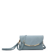 Cross Body Bag with Detachable Wrist Strap and Shoulder Strap - Blue