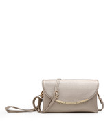 Cross Body Bag with Detachable Wrist Strap and Shoulder Strap - Gold