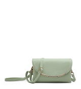Cross Body Bag with Detachable Wrist Strap and Shoulder Strap - Green