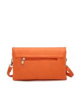 Cross Body Bag with Detachable Wrist Strap and Shoulder Strap - Orange