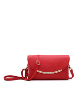 Cross Body Bag with Detachable Wrist Strap and Shoulder Strap - Red