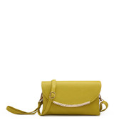Cross Body Bag with Detachable Wrist Strap and Shoulder Strap - Yellow