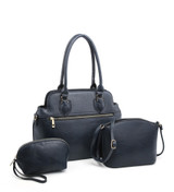 3 Piece Handbag Set with Detachable Shoulder Strap