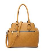 3 Piece Handbag Set with Detachable Shoulder Strap - Yellow