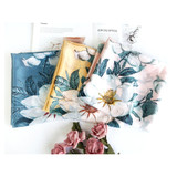 Pretty Floral Vintage Style Soft Touch Scarf - Pink