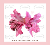 DOUBLE LILY HAIR FLOWERS WITH CROCODILE CLIP - Light Pink