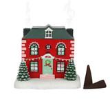 Adorable Christmas House Incense Cone Burner Ornament