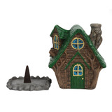 WOODY LODGE FAIRY HOUSE INCENSE CONE BURNER BY LISA PARKER