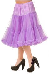 "50s Vintage Rock n Roll Rockabilly Petticoat Skirt 26"" Lavender Lilac Purple"