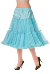 "Dancing Days  26"" 1950s Soft Multi layered Petticoat Blue"