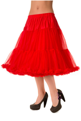 "50s Vintage Rock n Roll Rockabilly Petticoat Skirt 26"" red"