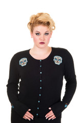 Candy Skull Cardigan - Blue