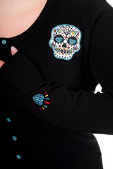 Candy Skull Cardigan - Blue